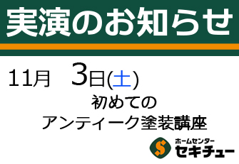 11月3日(木・祝日)開催の実演
