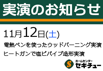 11月12日(土)開催の実演