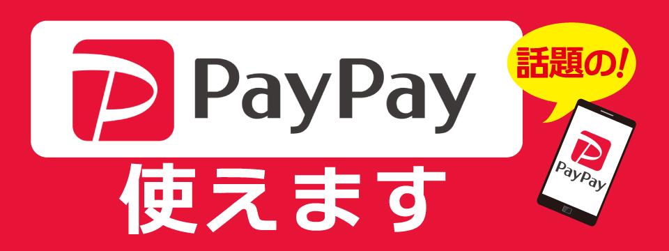 スマホアプリ「PayPay(ペイペイ)」がご利用可能になりました